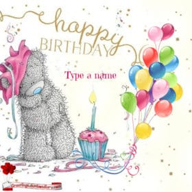 Bear and birthday candle