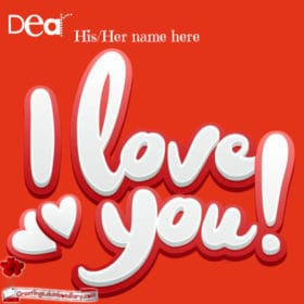 Red Background Love card