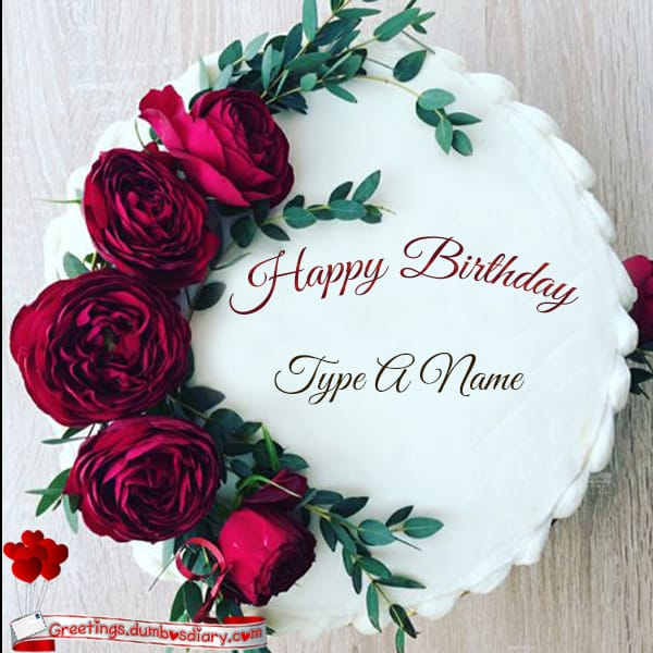 Red Roses Birthday cake cover