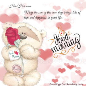 Cute bear with rose cover